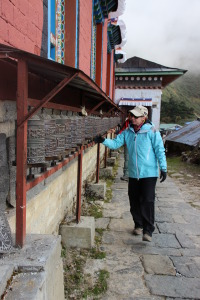 Dara Spinning Prayer Wheels