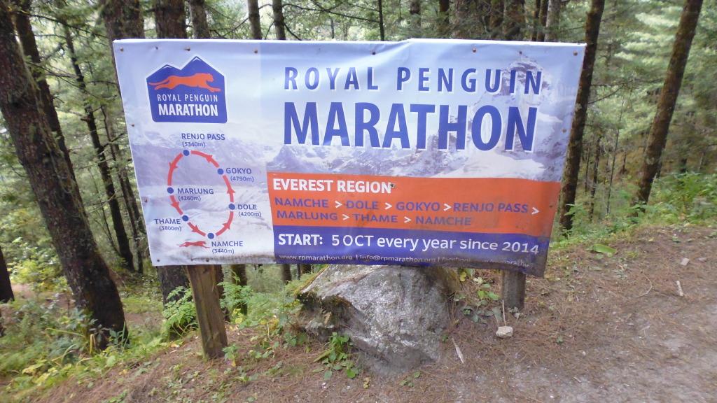 Everest Marathon Sign