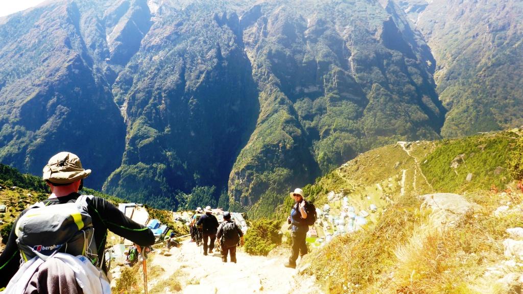 Hiking Back to Namche
