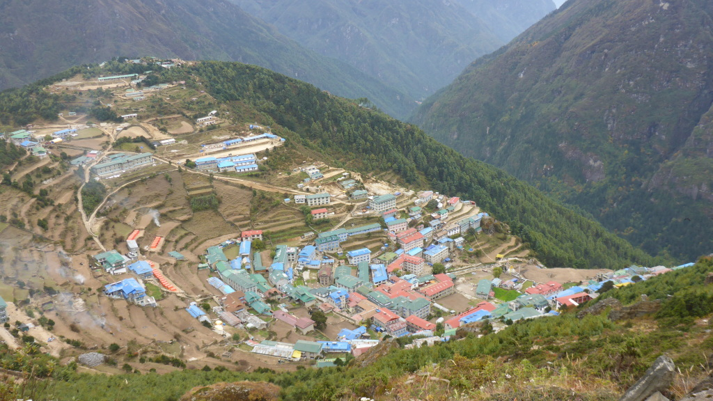 Namche - View from Track Above