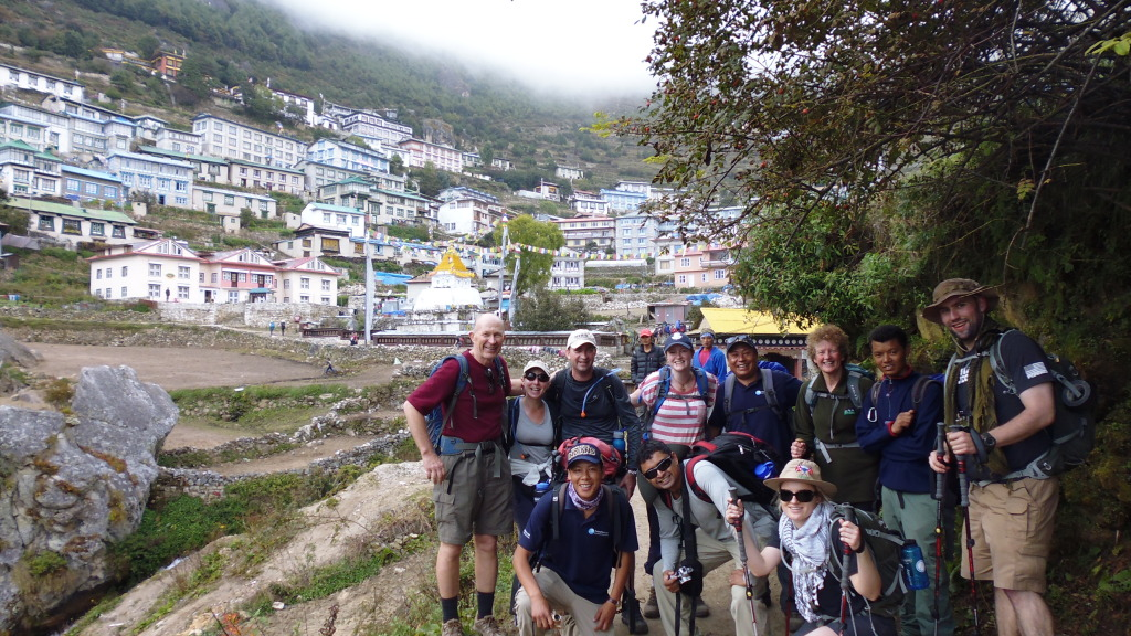 Group Enters Namche Bazaar