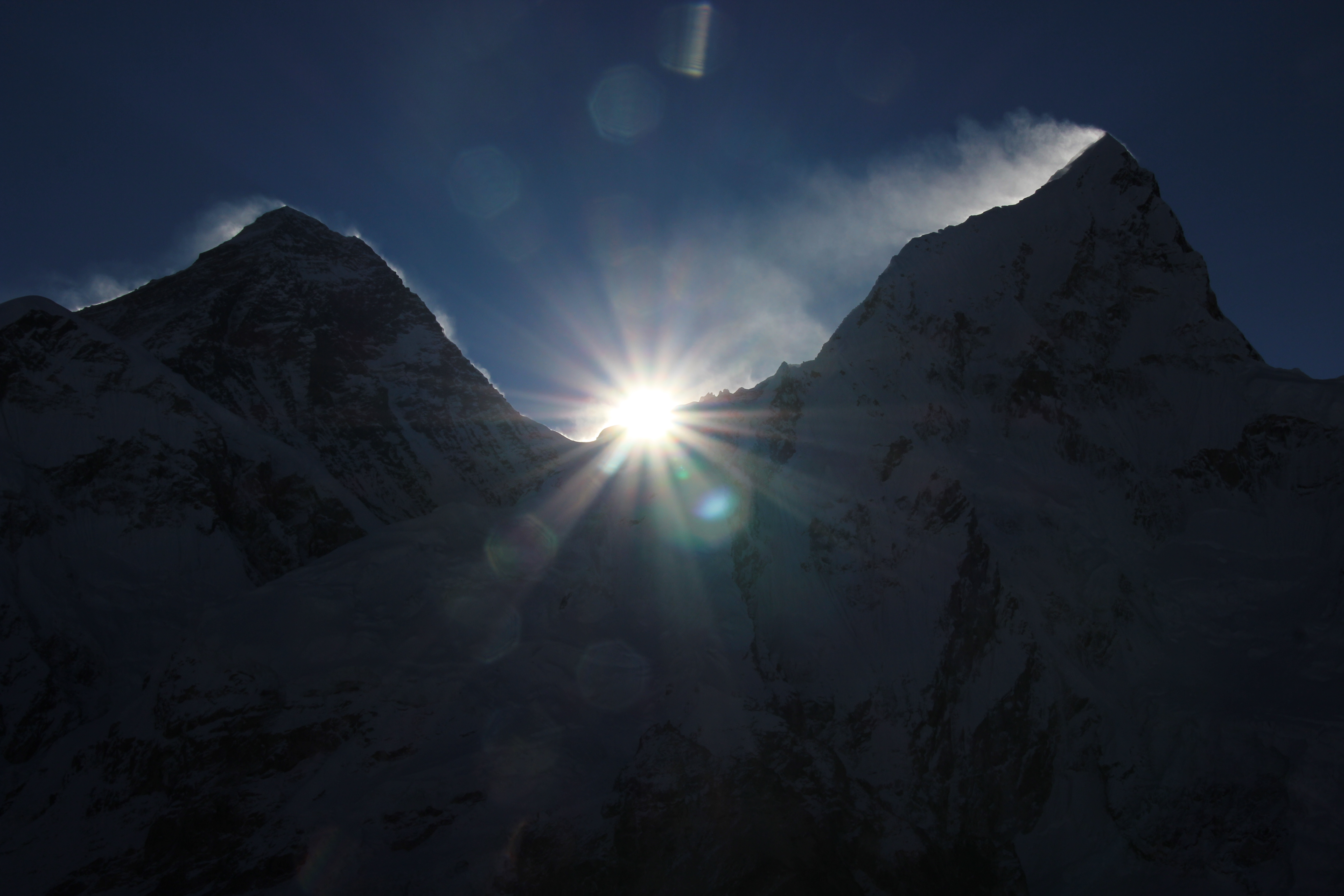 Sun rising over Mt Everest