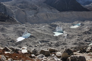 Ice Pools in the Glacier