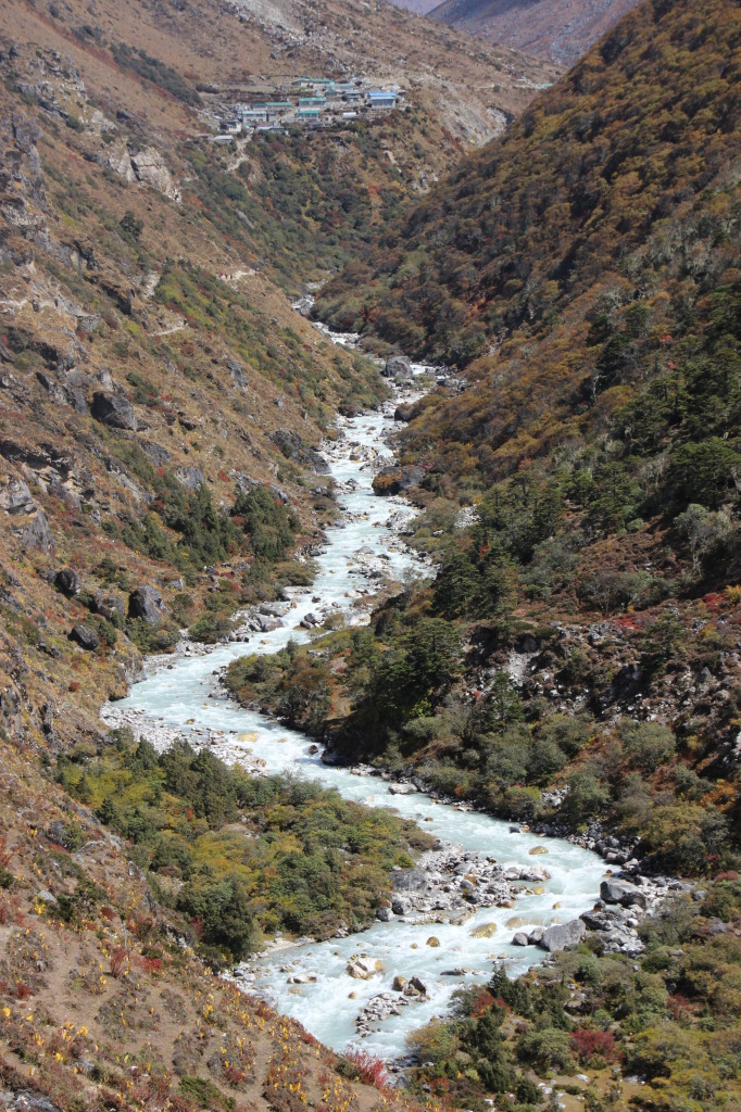 River Winding Through Dingboche Valley