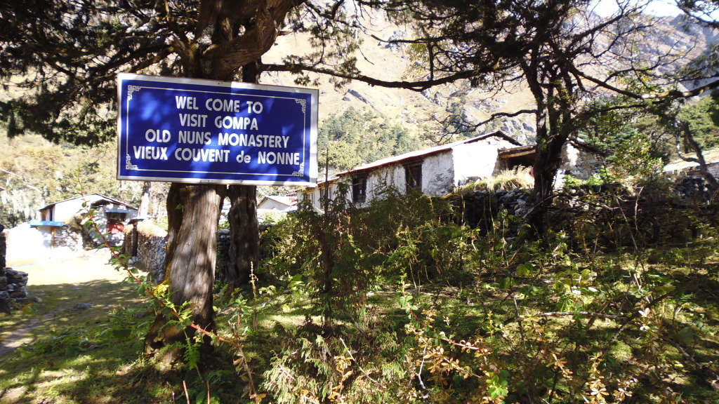 Sign for Old Nuns Monastery