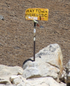 Sign to Everest Base Camp