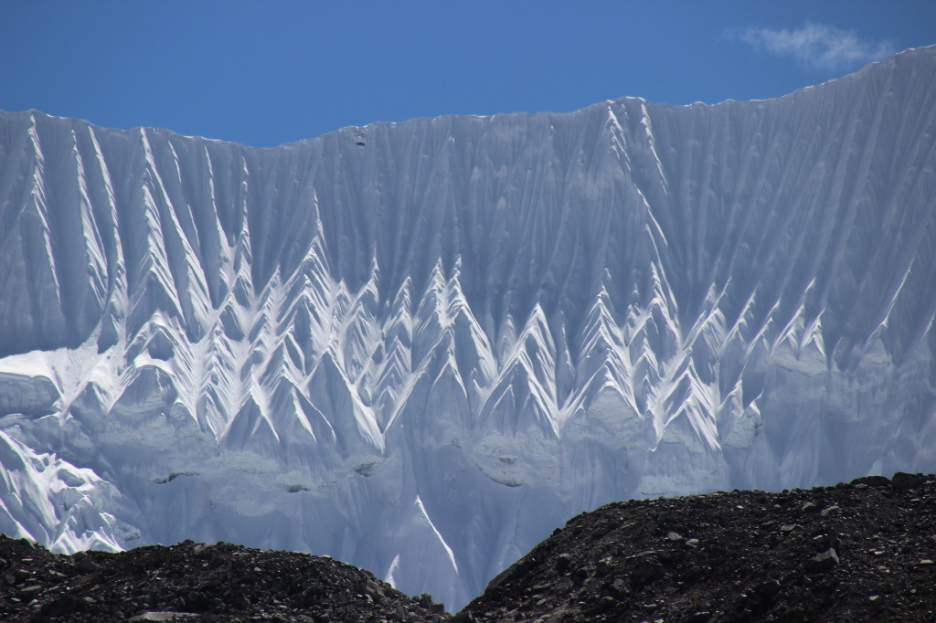 Snow & Ice Formations Over Chukhung Valley