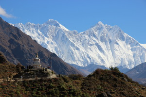Stupa - Trail - Mountains