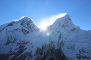 Sunrise Breaking Over Everest