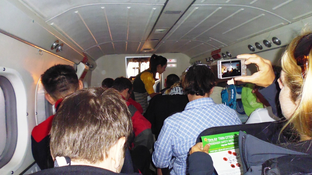 Inside Plane to Lukla