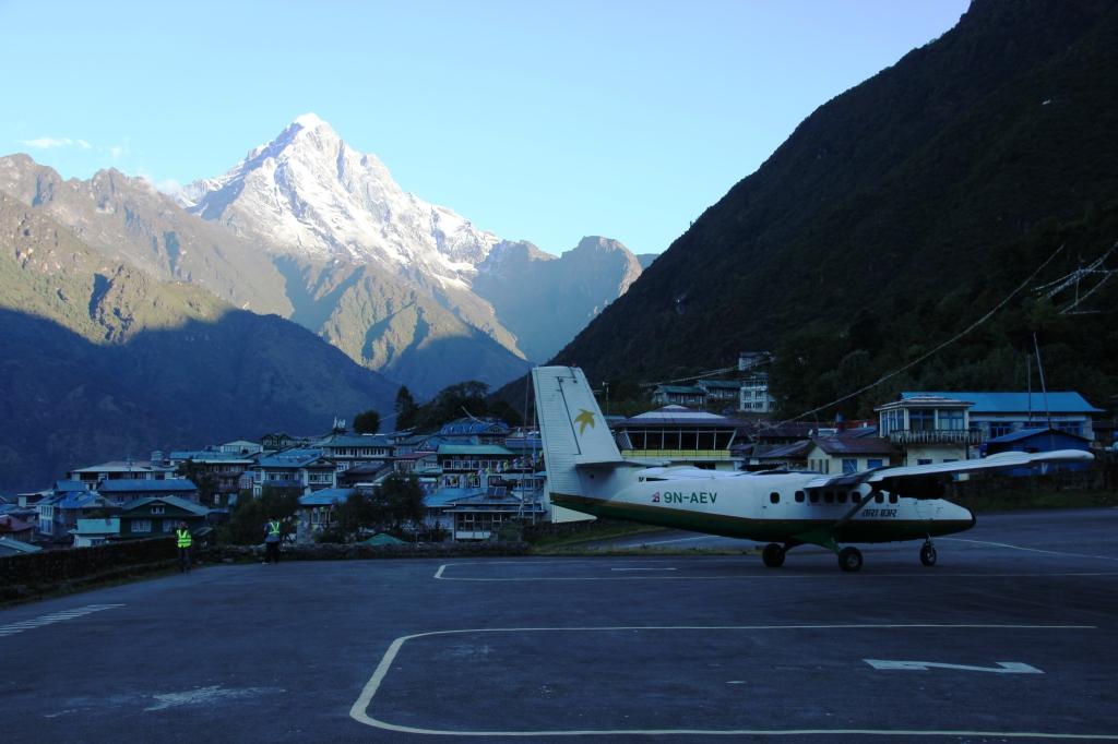 Plane - Lukla Airstrip - Mountain
