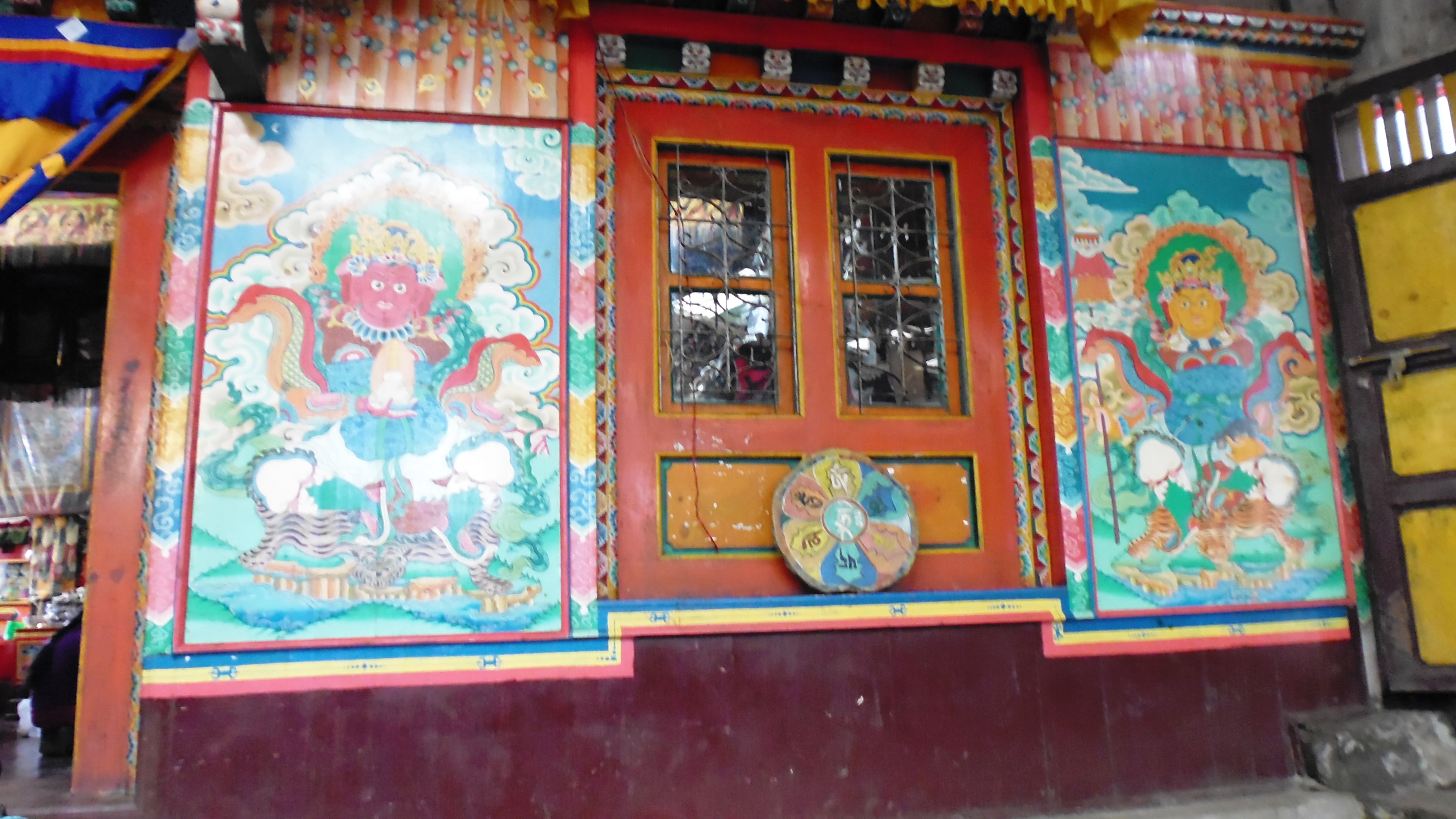 Doors at Thaktul Monastery