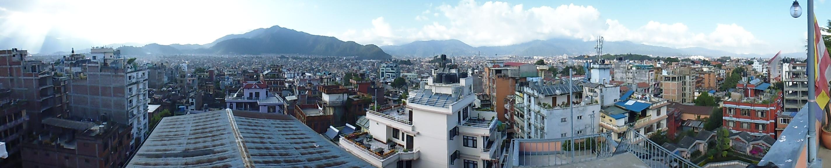 Portrait View of the Kathmandu City